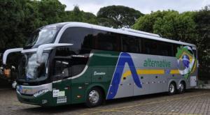 Foto de Ônibus para Zona Sul do Rio de Janeiro saindo de Petrópolis